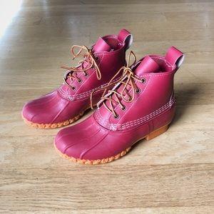 """LL Bean Women's Cherry Red 6"""" Bean Boot"""